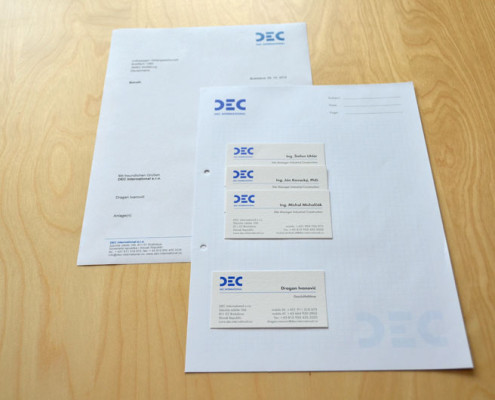 DEC - logotype, Business Cards